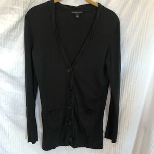 Banana Republic black long button-up cardigan